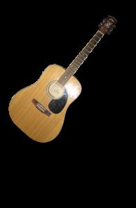 Westerngitarre auf Pappe